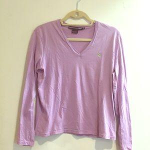 Ralph Lauren sport  purple long sleeve shirt
